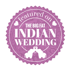 the big fat indian wedding featured badge - purple