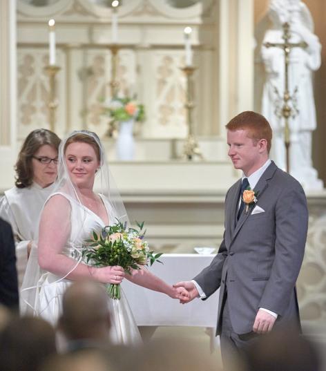 2014/11/01 -- Alex & Matthew Wedding -- St. Thomas Aquinas Church in Palo Alto, Calif., on Nov. 1, 2014 Photo by Kaitlyn Pratt